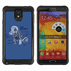 A-type Arte & diseño Anti-Slip Shockproof TPU Fundas Cover Cubre Case para Samsung Galaxy Note 3 III / N9000 / N9005 ( Poke Body Diagram )