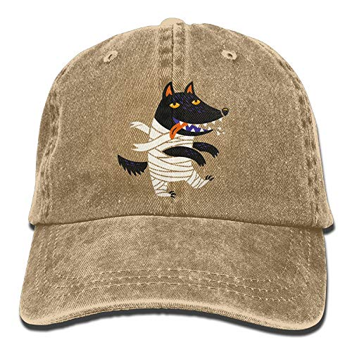 Wolf Halloween Costume Denim Hat Adjustable Mens Plain Baseball Hat -