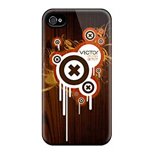 Tpu Case Cover For Iphone 4/4s Strong Protect Case - New Vector Design