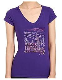 Great Smoky Mountains Gatlinburg, TN Rhinestone/ Stud Women's T-Shirts