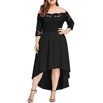 Amazon.com: 2019 Women Plus Size Dress,3/4 Sleeve Maxi Dress ...