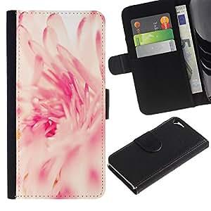 iKiki Tech / Cartera Funda Carcasa - Pink White Sun Vignette Spring - Apple iPhone 5 / 5S