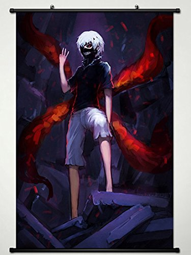 181 Ken - Wall Scroll Poster Fabric Painting For Anime Tokyo Ghoul kaneziki ken 181 L