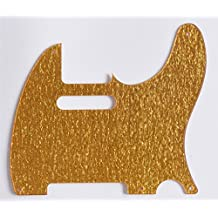 KAISH Gold Sparkle Plastic Vintage Tele 5 Hole Pickguard Scratch Plate for Telecaster