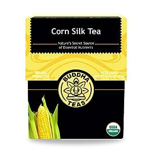 Organic Cornsilk Tea - Kosher, Caffeine-Free, GMO-Free - 18 Bleach-Free Tea Bags