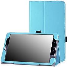 Samsung Galaxy Tab 4 8.0 Case - MoKo Slim Folding Cover Case for Samsung Galaxy Tab 4 8.0 Inch Tablet, Light BLUE (With Smart Cover Auto Wake / Sleep. WILL NOT Fit Samsung Galaxy Tab 3 8.0)