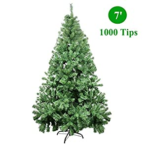 CelebrationLight Christmas Tree - Xmas Tree - Artificial Christmas Pine Trees - 1000 Branch Tips for Lush Looking - 3 Separable Sections - Tree Stand - Holiday Decorations - 7ft Christmas Tree 1