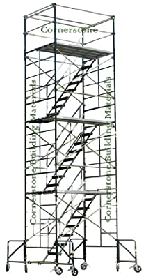 "Scaffolding Stairway Case Rolling Tower 5' X 7' X 20'8"" With Ladder Cbm1290"