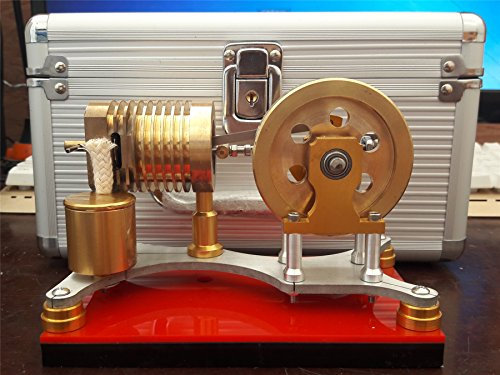 Sunnytech Hot Air Flame Licker Stirling Engine Motor Model Education Toy Electricity TZ (TZ02G)