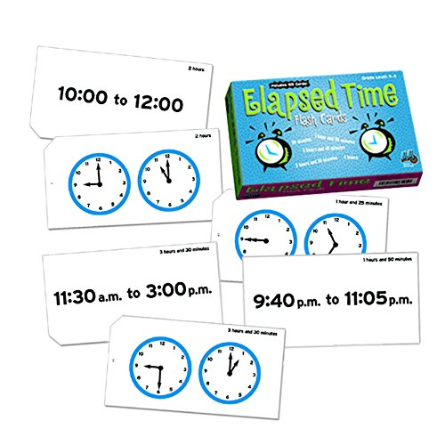 Learning Advantage 8636 Elapsed Time Flash Cards