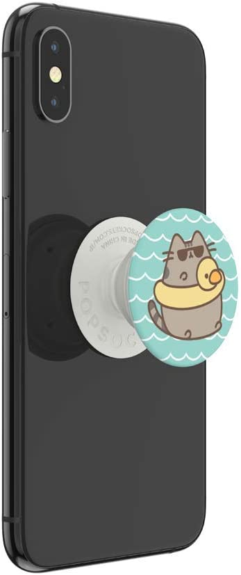 PopSockets: PopGrip with Swappable Top for Phones /& Tablets Pusheen Floatie Pusheen Gloss