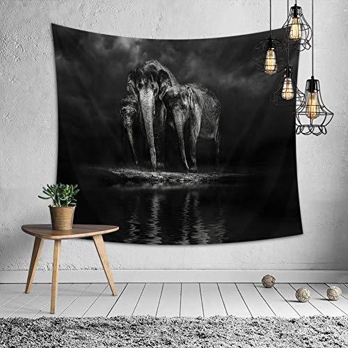 timeless design f42c6 4c0fb Home-organizer Tech Wall Décor Elephant Tapestry Wall Hanging Mandala Wall  Tapestry, 59 W X 51 L Inches Wall Hanging Tapestry Beach Towel Picnic Mat  ...