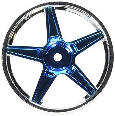 Redcat Racing Chrome Front 5 Spoke Blue Anodized Wheels (2 Piece)
