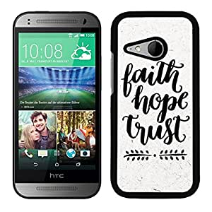 FUNDA CARCASA PARA HTC ONE MINI 2 HOPE TRUST BORDE NEGRO