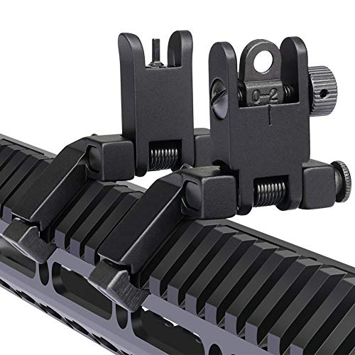 Marmot 45 Degree Offset Flip Up Sight Low Profile Rapid Transition Front & Rear Iron Sights