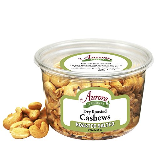 Aurora Natural Products Dry Roasted Cashews, Salted, 9 Ounce