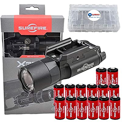 SureFire X300 Ultra X300U-B High Output 1000 Lumen LED WeaponLight Black with 12 Extra CR123A Batteries and 3 Lightjunction Battery Cases