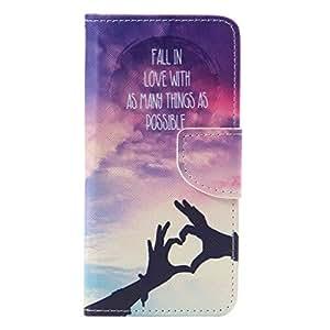 Galaxy A5 2016 Case Cover Carcasa , romántico púrpura amante estilo PU Cubierta Billetera Soporte Del Tirón Cierre Magnético Funda Tapa Para Samsung Galaxy A5 2016 SM-A510 + 24K Etiqueta Engomada