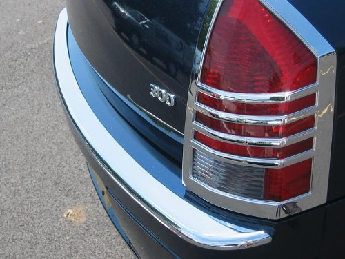 Chrysler 300 Chrome Rear Bumper Top Cover 2005, 2006, 2007, 2008, 2009, 2010