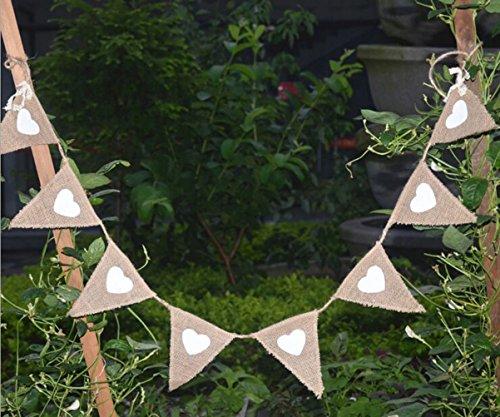 DIY Burlap Bunting, DIY Wedding Banner, DIY Burlap Banner kit- Natural Burlap Banner Party Decorations for Halloween (Halloween Bunting Diy)