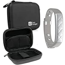 DURAGADGET Premium Quality Hard 'Shell' EVA Case in Black for Jawbone UP3 Heart Rate, Activity + Sleep Tracker, Black Twist - With Carabiner Clip