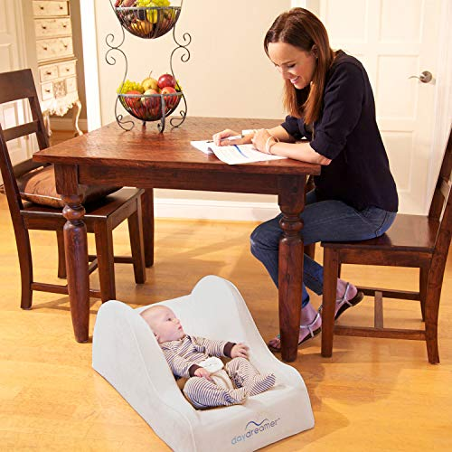 hiccapop Day Dreamer Sleeper Baby Lounger Seat for Infants - Travel Bed - Bassinet Alternative, Charcoal Gray by hiccapop (Image #3)
