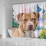 Breedink American Staffordshire Terrier Print Shower Curtains 6