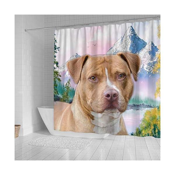 Breedink American Staffordshire Terrier Print Shower Curtains 2