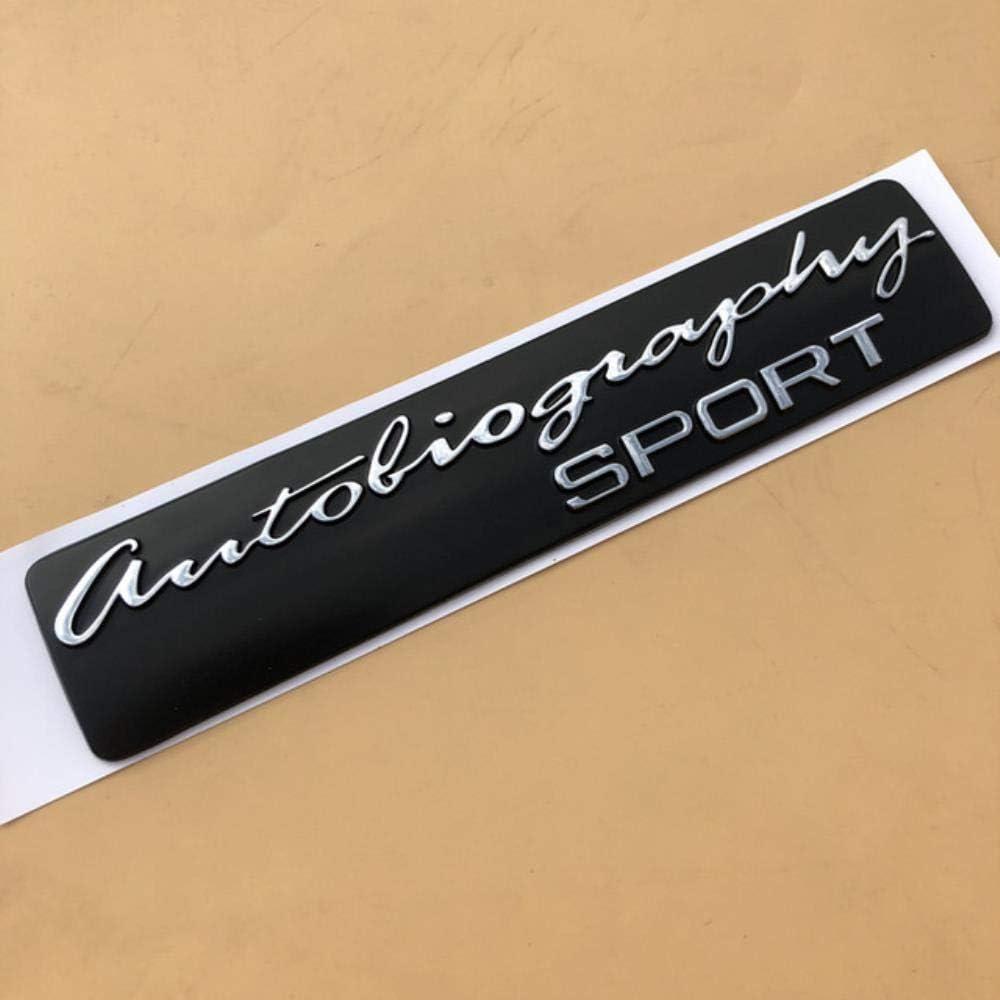 N//R Handwriting SV Autobiography Ultimate Edition SPORT Emblem Bar Badge for Range Rover Executive Limited Car Trunk Logo Sticker,ULTIMATE EDIT silver