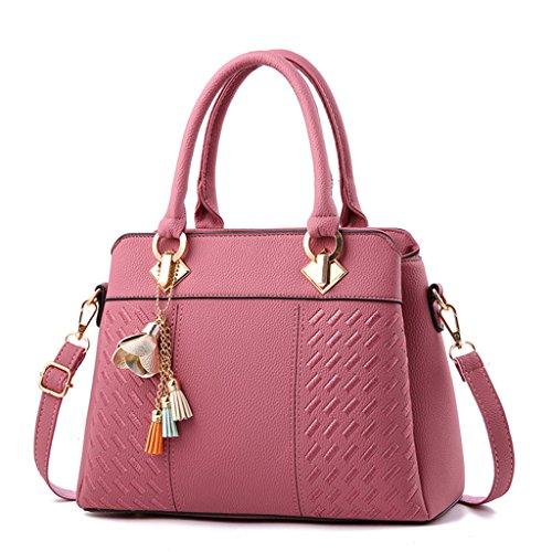 Gran Bolsos portátil Color mensajero de Cartera Almacenamiento colores Bolsa de Conveniente capacidad mujer Múltiples Pink Gray Opcional Necesidades diarias ngnR0