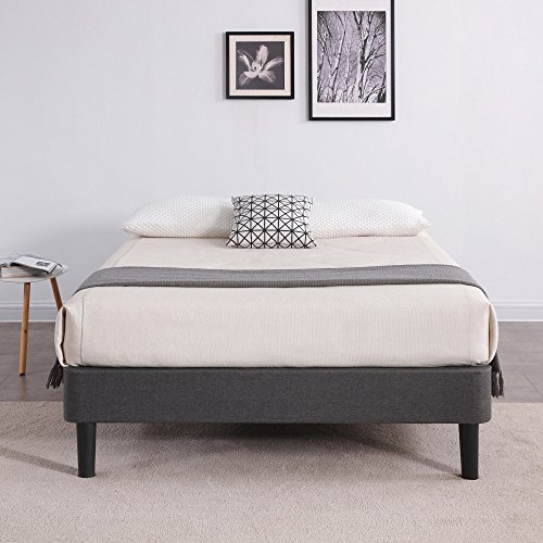 - Classic Brands DeCoro Claridge Upholstered Platform Bed | Metal Frame with Wood Slat Support | Grey, California King