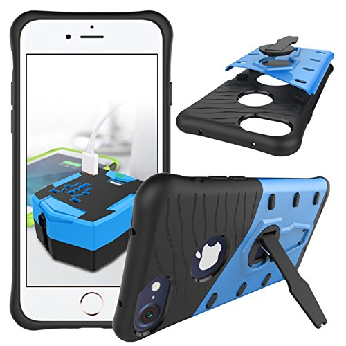 360 Degree Dual Pro Protective Case for Apple iPhone 6 Plus (Blue) - 5