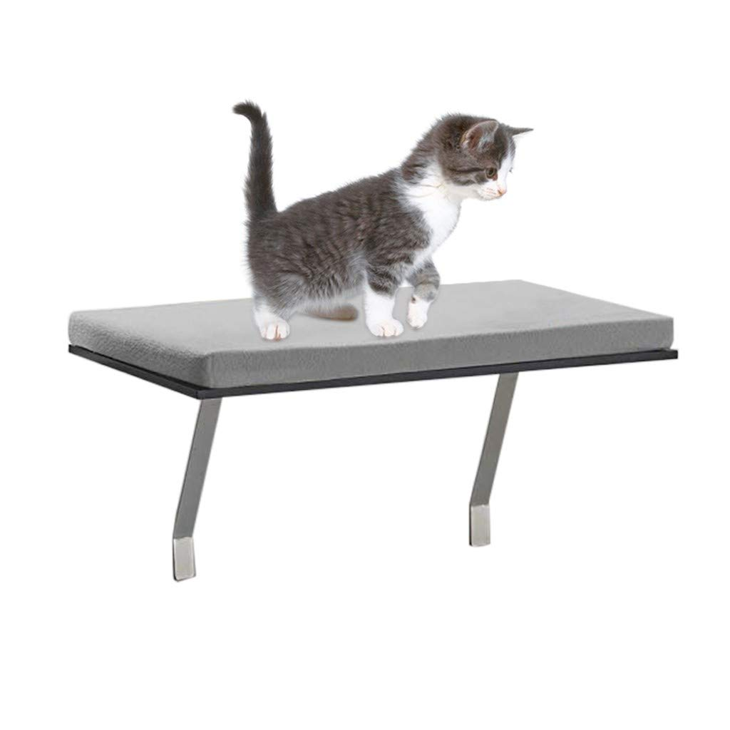 US Fast Shipment - Gallity Deluxe Pet Cat Window Seat Perch, Cat Perch Window Hammock Bed Pet Cat Seat,Cat Bed Foam Cushion Cats Window Perch With Soft Comfortable Fleece Cover by Gallity Ladder