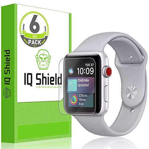 IQ Shield Screen Protector Compatible with Apple Watch (42mm S1, S2, S3) (6-Pack)(Ultimate) LiquidSkin Anti-Bubble Clear Film