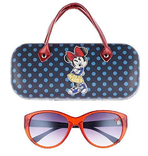 Minnie Mouse Girls Sunglasses & Hard shell Carrying Case Set - 100% UV Protection for Kids