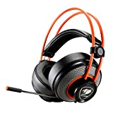 Cougar CGR-P40NB-300 Inmersa Gaming Headset - Microphone and Volume Control - Lightweight- Noise Cancelling Headphone - 3.5m Phone Plug for PC Gaming, PS4
