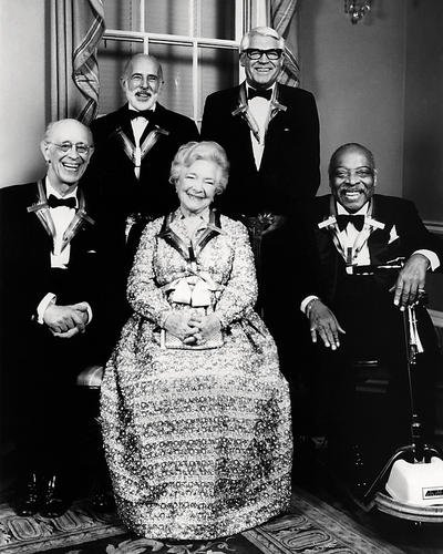 Cary Grant Helen Hayes Count Basie Jerome Robbins Rudolph Serkin Kennedy Center Honors 1981 candid 16x20 - Center Cary