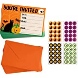 Halloween Invitation Cards - 60-Pack Halloween Party Invites, Fill-in Invitations with Envelopes and Seal Stickers, 4 x 6 Inches