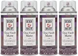 Design Master DM-HDF-169 Home Decor Finish Aerosol Spray, 11-Ounce, Clear Matte (Fоur Paсk)