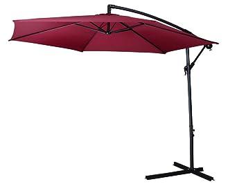 Homewell 10u0027 Complete Freestanding Outdoor Patio Umbrella ...