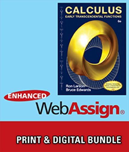 Bundle: Calculus: Early Transcendental Functions, 6th + WebAssign Printed Access Card for Larson/Edwards' Calculus: Early Transcendental Functions, 6th Edition, Multi-Term -  Larson, Ron, Hardcover