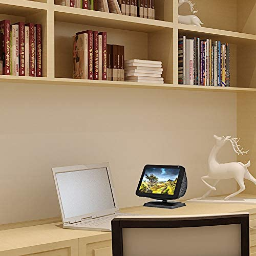 NUOSWEK Upgrade Swivel Stand for Smart Speaker Show 8 with Stronge Magnet, Tilt Range Adjustable, Anti-Slip (Black)