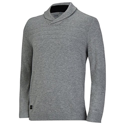 Adidas 2015 Climawarm Sport Performance Sweater Crew Neck Jumper Mens Golf Winter Pullover Medium Grey Heather Small