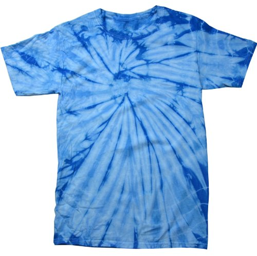 Colortone Tie Dye T-Shirt MD Spider Baby Blue
