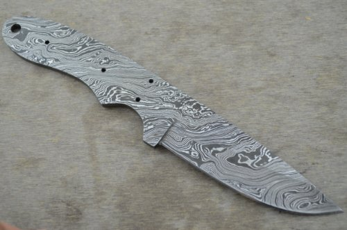 Leather-n-dagger | Professional And Premium Quality Custom Handmade Damascus Steel Blank Blade for Knife Making Supplies LDB37