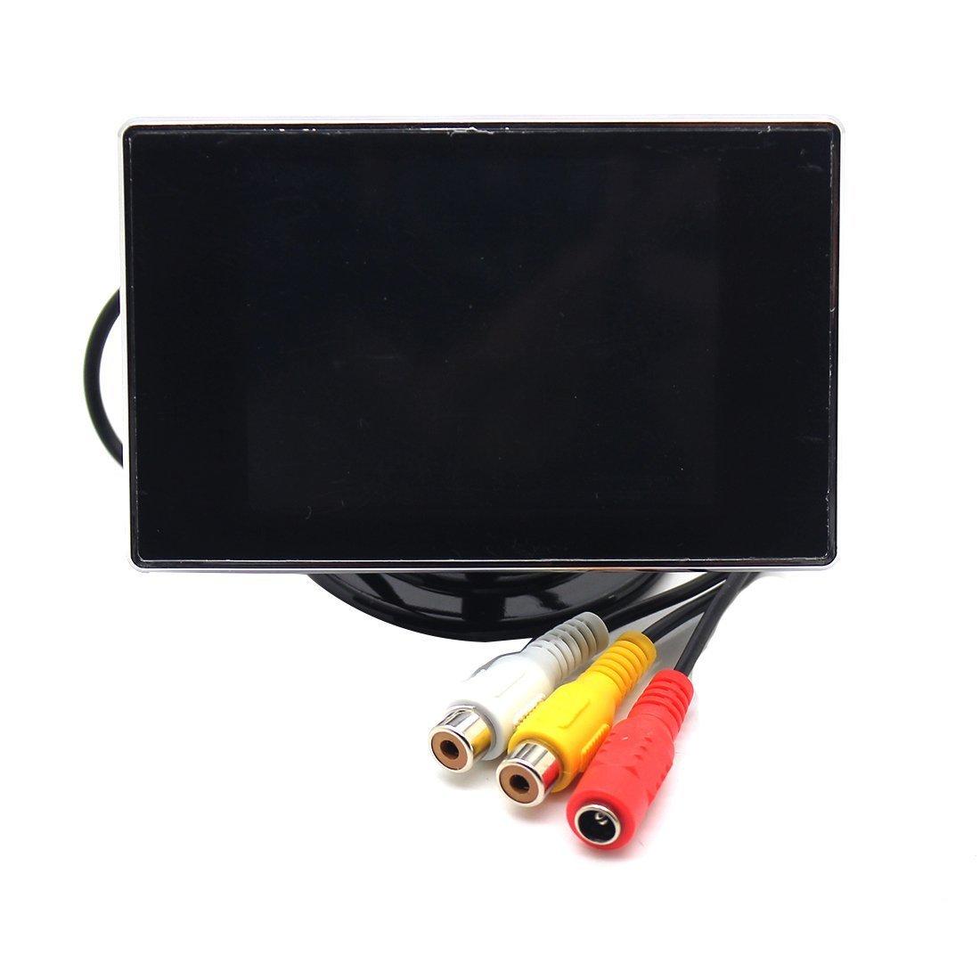 3.5 TFT LCD Monitor de Cá mara de marcha atrá s retrovisor digital profesional Aparcamiento Back Up Auto Reverse Luwu-Store 3217119