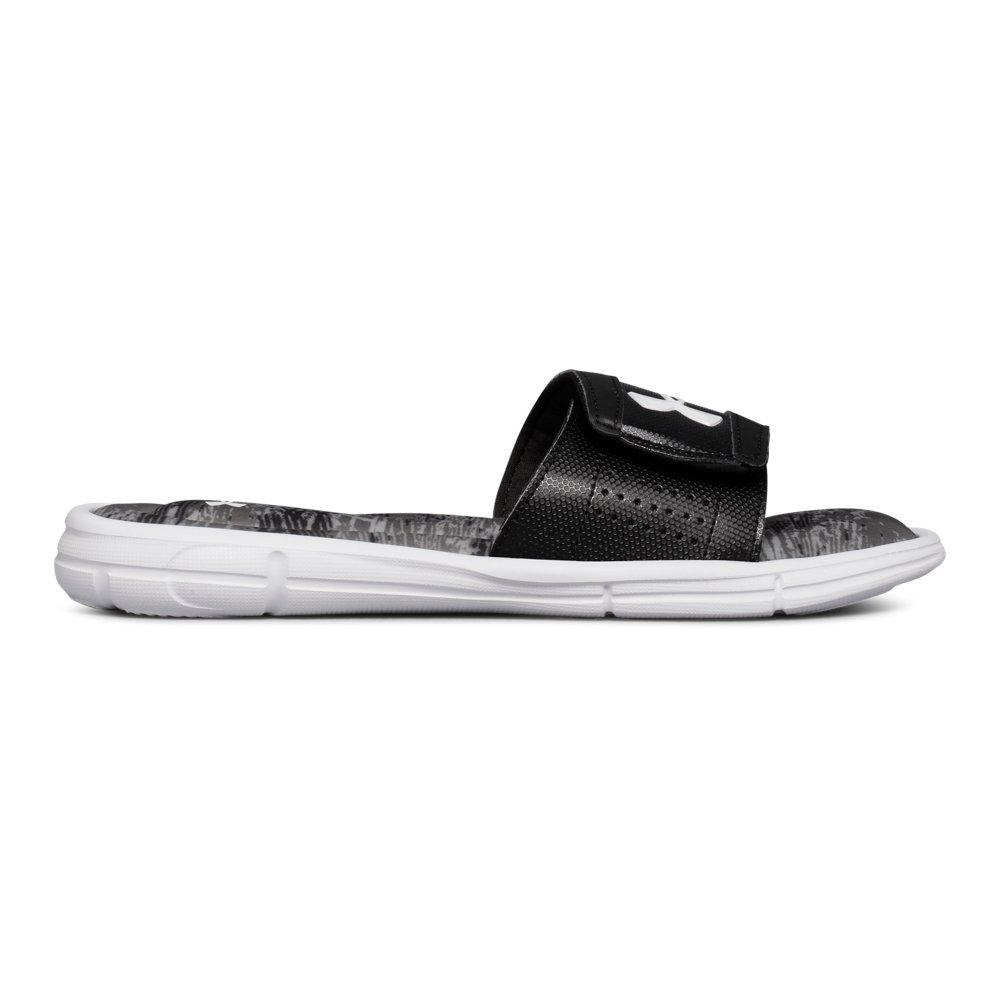 Under Armour Boys' Ignite V Vertigo Slide Sandal, Black (001)/Graphite, 1 by Under Armour (Image #1)