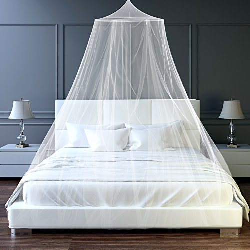 Mosquito Bug Net Indoor Outdoor Portable Canopy - Protect Beds and Cribs from Insects When Camping Or Traveling - Use As Bedroom Decor To Transform A Child, Or Baby's Room.