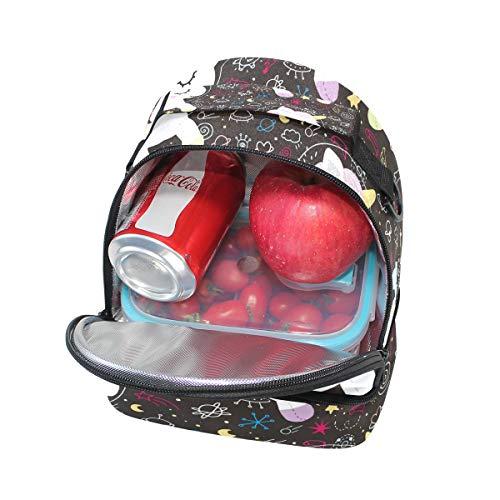 planètes à Tote lunch isotherme Licorne Alinlo motifs Cooler pour Sac l'école avec Pincnic bandoulière Boîte à réglable fusées Uzxw5wnFqI