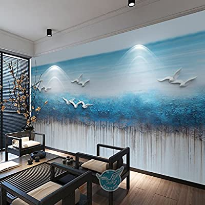 XLi-You 3D new Chinese stereo TV background wall paper dream water village landscape paintings
